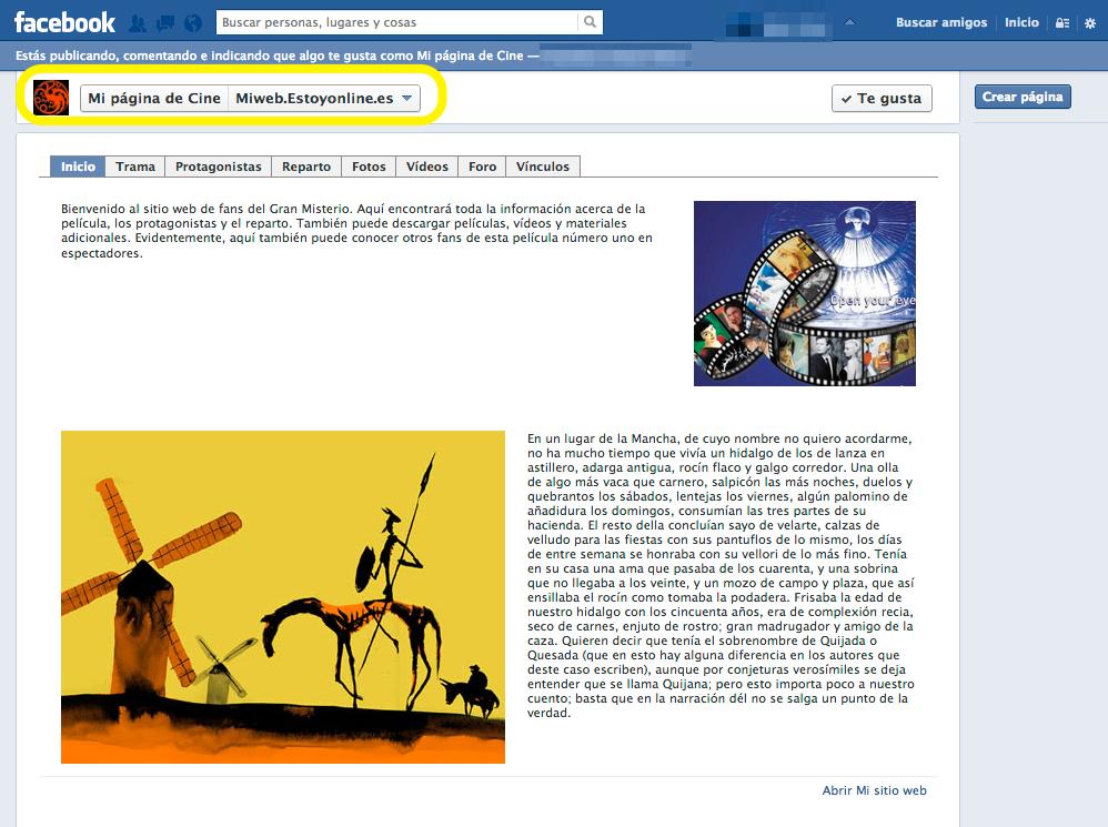 38 pagina en facebook ok