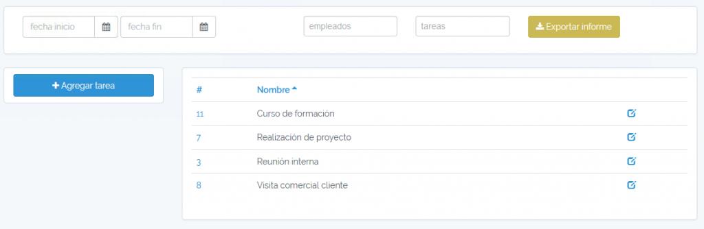 MisHoras - Exportar tareas